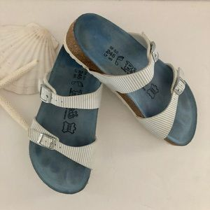 BIRKENSTOCK Birkis seersucker sandals